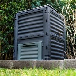 Thermokomposter 300 L, 61x61x82 cm, aus PP Kunststoff
