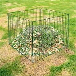 Metall Komposter 90x90x70 cm, Grün, aus Stahl