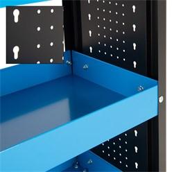Werkstattwagen 83x38x85 cm, schwarz/blau, mit 3 Etagen aus Metall