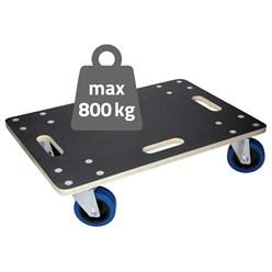 Möbelroller mit 4 Lenkrollen, 40 x 60 cm, belastbar bis 800 kg, aus Multiplexplatte