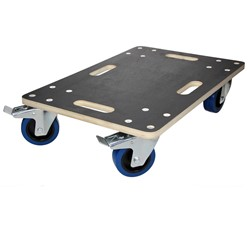 furniture trolley with 2 swivel castors and 2 swivel castors with brakes, 40 x 60 cm, load capacity up to 800 kg, made of CNC-milled multiplex