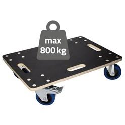 Möbelroller mit 2x Feststellbremse, 40x60 cm, belastbar bis 800 kg