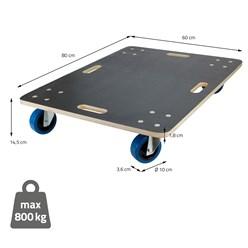 Transportroller 60x80 cm, belastbar bis 800 kg