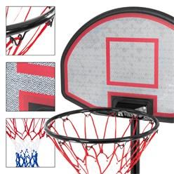 Basketballständer, 262 cm, aus Stahl und HDPE Kunststoff