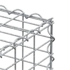 Gabione 100x50x30 cm, aus galvanisch verzinktem Stahldraht
