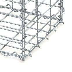 Gabione 100x30x30 cm, aus galvanisch verzinktem Stahldraht