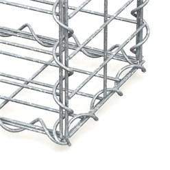 Gabione 100x80x20 cm, aus galvanisch verzinktem Stahldraht