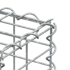 Gabione 100x50x20 cm, aus galvanisch verzinktem Stahldraht