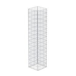 Gabionen Säule Eckig, 150x30x30 cm, aus galvanisch verzinkter Stahldraht