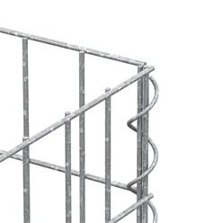Gabionen Säule Eckig, 100x30x30 cm, aus galvanisch verzinkter Stahldraht