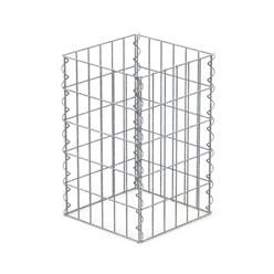 Gabionen Säule Eckig, 50x30x30 cm, aus galvanisch verzinkter Stahldraht