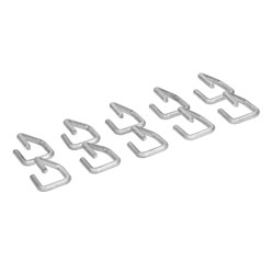 10er Set Klammer für Gabione, 2 x 2 cm, aus Zink Aluminium