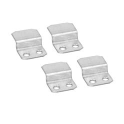 4er Set Clips für Gabionenbank, 40x29x10 mm, aus verzinkter Stahl