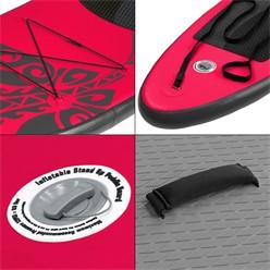 Aufblasbares Stand Up Paddle Board Limitless, 308 x 76 x 10 cm, Rosa, inkl. Pumpe und Tragetasche, aus PVC und EVA