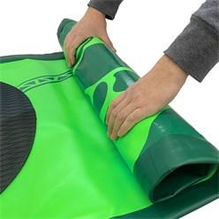 Aufblasbares Stand Up Paddle Board Limitless, 308 x 76 x 10 cm, Grün, inkl. Pumpe und Tragetasche, aus PVC und EVA