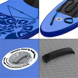 Aufblasbares Stand Up Paddle Board Limitless, 308 x 76 x 10 cm, Blau, inkl. Pumpe und Tragetasche, aus PVC und EVA