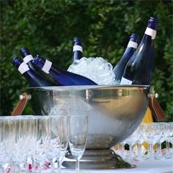 Champagnerkühler mit Kunstlederhenkel 39 x 26 cm