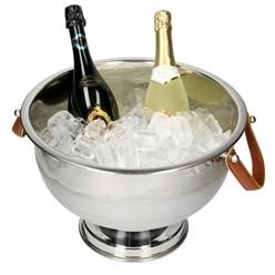 Rafraîchisseur à champagne avec poignée en similicuir 39 x 26 cm