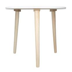 2er Set Beistelltisch Rund mit Beinen aus Kiefernholz Modernes Design