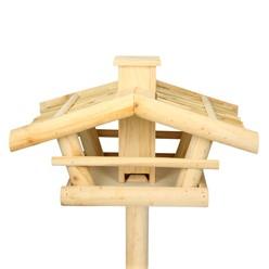 Vogelhaus mit Ständer 115 x 42.5 x 30 cm Kiefernholz