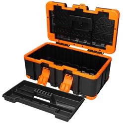 Werkzeugkiste 50x30x24 cm Zwischenfach aus Kunststoff Gummiecken