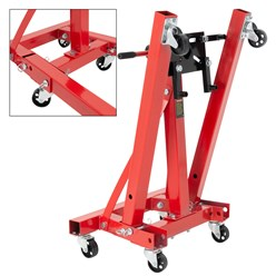 Motorheber rot, 360° drehbar, bis 900 kg, aus Stahl