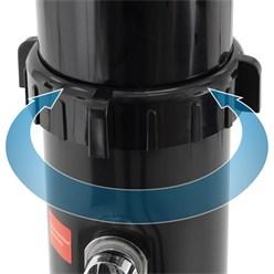 Solardusche 35L, schwarz, mit runder schwenkbarer Regenduschkopf, aus PVC und ABS verchromt