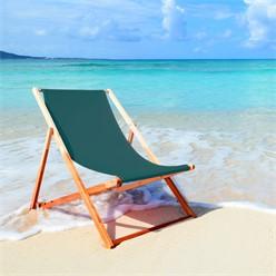 Liegestuhl klappbar, dunkelgrün, bis 120kg, aus Holz mit 3 Liegepositionen