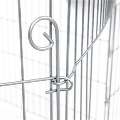 Freilaufgehege aus 6 Gittern für Kleintiere, 60x60 cm, aus Metall verzinkt