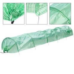 Folientunnel, transparent/grün, 300x55x35 cm, aus PE-Gitterfolie