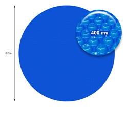 Solarfolie Pool Rund Ø 3 m, 400µm, blau, aus PE-Folie mit Luftkammern