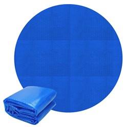 Solarfolie Pool Rund Ø 2.5 m, 140µm, blau, aus PE-Folie mit Luftkammern