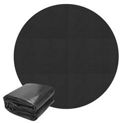 Pool Solarfolie schwarz, Ø 3 m, 140µm, aus PE-Folie mit Luftkammern
