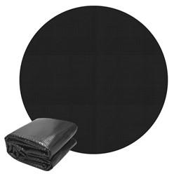 Pool Solarfolie schwarz, Ø 3,6 m, 140µm, aus PE-Folie mit Luftkammern