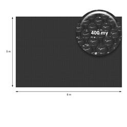 Solarfolie Pool Eckig 8 x 5 m, 400µm, schwarz, aus PE-Folie mit Luftkammern
