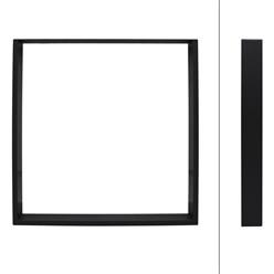2 Stücke Tischbeine 80 x 72 cm, Schwarz, aus pulverbeschichteter Stahl