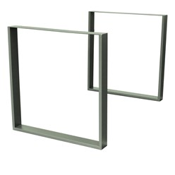 2er Set Tischbeine 90x72 cm, Steingrau, aus pulverbeschichtetem Stahl