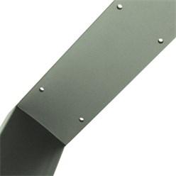 2er Set Tischbeine 80x72 cm, Steingrau, aus pulverbeschichtetem Stahl