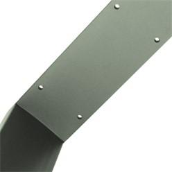 2er Set Tischbeine 30 x 43 cm, Steingrau, aus pulverbeschichteter Stahl