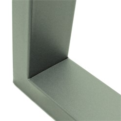 2er Set Tischbeine 60x72 cm, Steingrau, aus pulverbeschichtetem Stahl