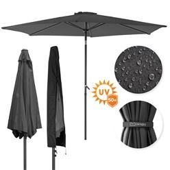 Sonnenschirm anthrazit, Ø 300 cm, Rund mit Kurbel, inkl. Abdeckung