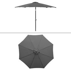 Sonnenschirm mit Kurbel, anthrazit, Ø 300 cm, aus Aluminium und Polyester