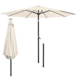 Sonnenschirm creme, Ø 300 cm, Rund mit Kurbel, inkl. Abdeckung