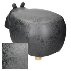 Tierhocker für Kinder 65 x 33 x 29 cm, Grau, mit Massivholzbeinen