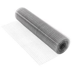 Volierendraht Maschendraht, aus verzinkter Stahl, Drahtstärke 0,7 mm, Maschenweite 12x12 mm, Länge 25 m