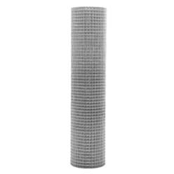 Volierendraht Maschendraht, aus verzinkter Stahl, Drahtstärke 0,75 mm, Maschenweite 19x19 mm, Länge 25 m