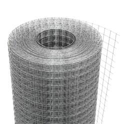 Volierendraht Maschendraht, aus verzinkter Stahl, Drahtstärke 1,05 mm, Maschenweite 25x25 mm, Länge 25 m