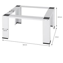 Waschmaschinen Untergestell weiß, 63x54.5x32.5 cm, aus Stahl
