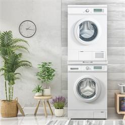 Verbindungsrahmen Universal mit ausziehbarer Ablage weiß, 60x60 cm, aus Stahl