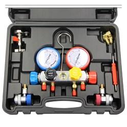 Monteurhilfe Set 4-Wege für Klimaanlage, inkl. Füllschläuchen und Haken, im Koffer